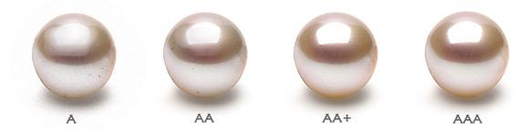 Lustre des perles selon leur qualité