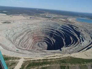 Mine de diamants à ciel ouvert