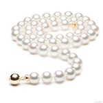Collier perles Akoya blanches Japon