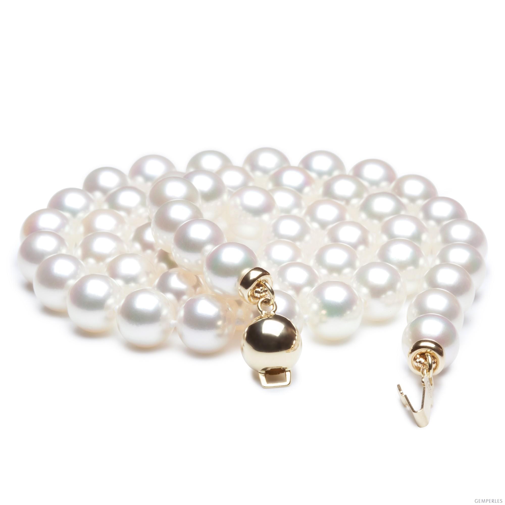 Collier en perles de culture du Japon - Akoya