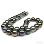 Collier Yvannah Lolita (Perles de Tahiti multicolores)