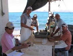Fondateurs de la ferme Perlas del Mar de Cortez