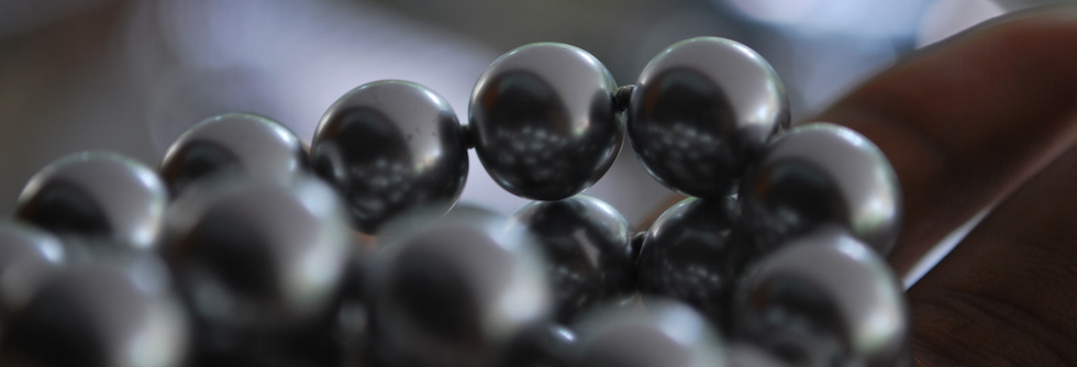 Perle nere di Tahiti sferiche