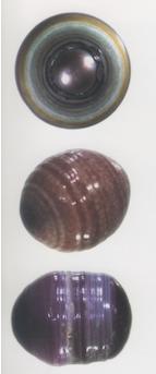 Perles montrant des preuves de rotation