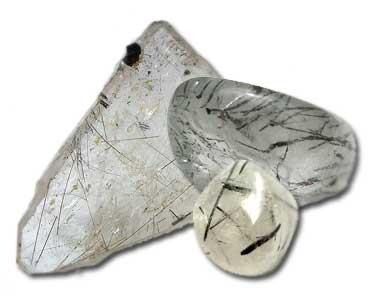 Cristals de roche à inclusions